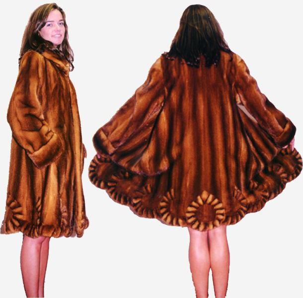Whiskey female mink stroller swing body withheart design bottom